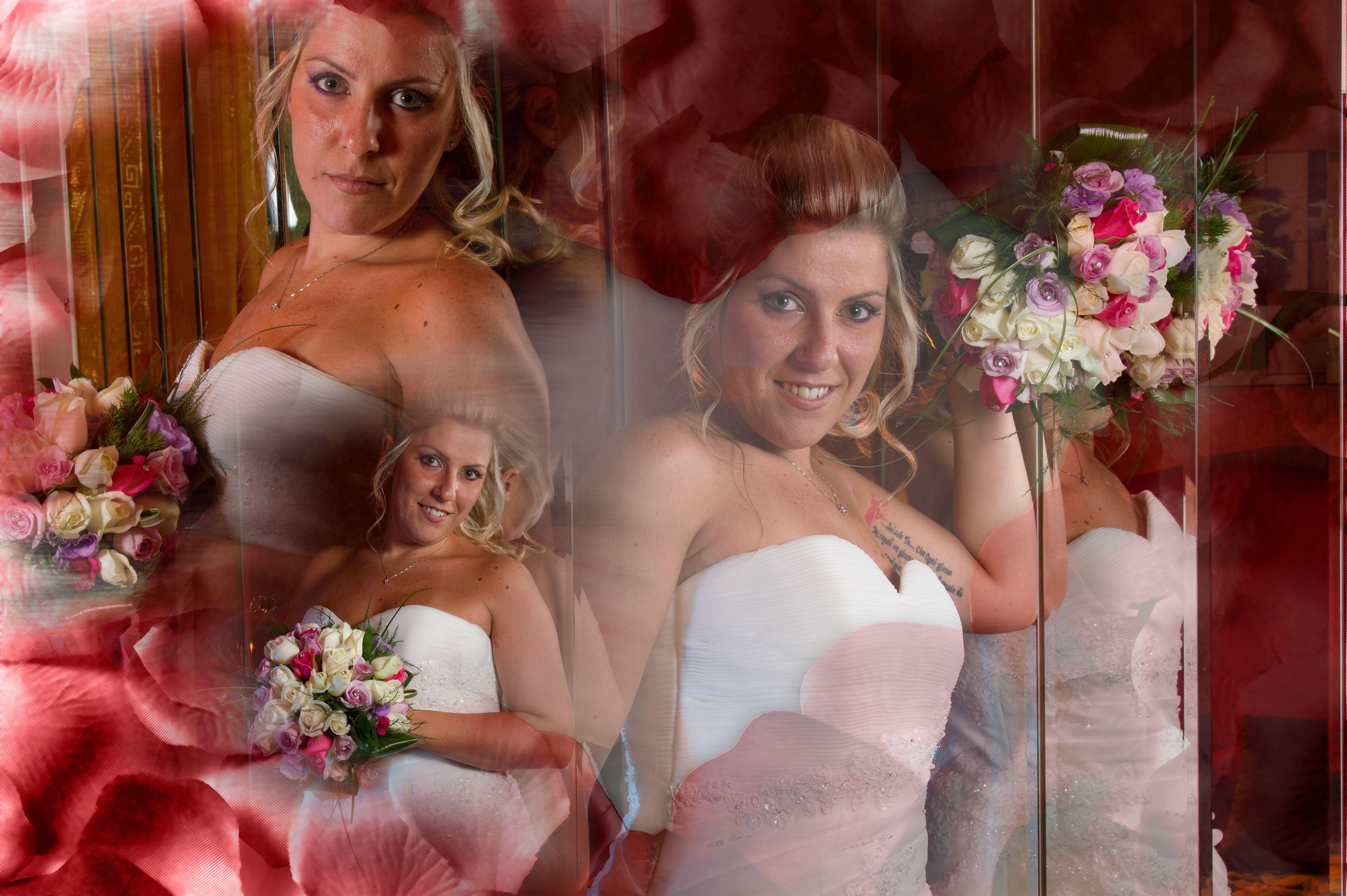 fotolibro di matrimonio foto a casa della sposa