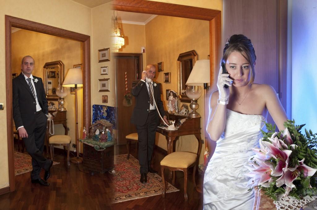 servizio fotografico di matrimonio a casa dello sposo